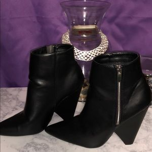 Charlotte Russe Shoes - Black wedges booties